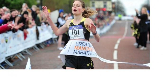 Emily wins Manchester Marathon.
