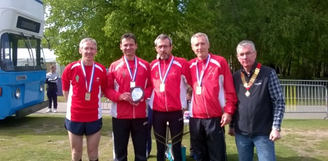 AFD Masters strike Gold at Road Relays