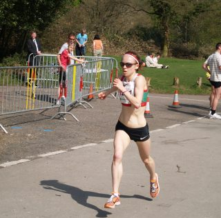 Charlotte PURDUE,  fantastic run in London Marathon