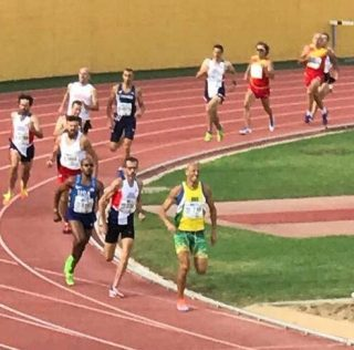 Mark Symes follows up 4th at World Masters Champs with a win over 1500m