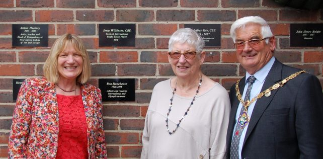 Famous Names of Farnham unveiling: Wednesday 26th June 2019